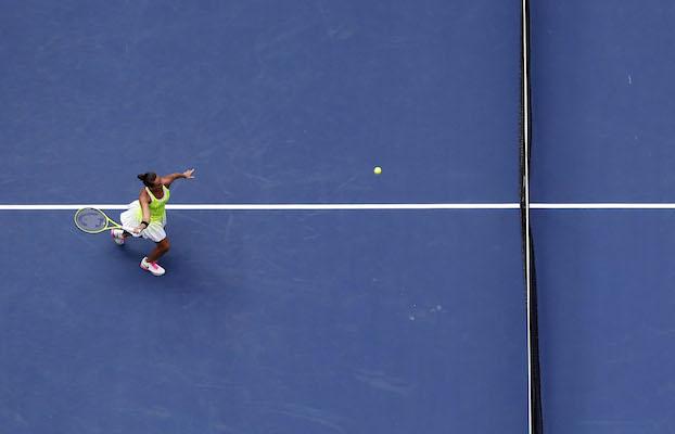 Roberta Vinci durante il match contro la Kerber