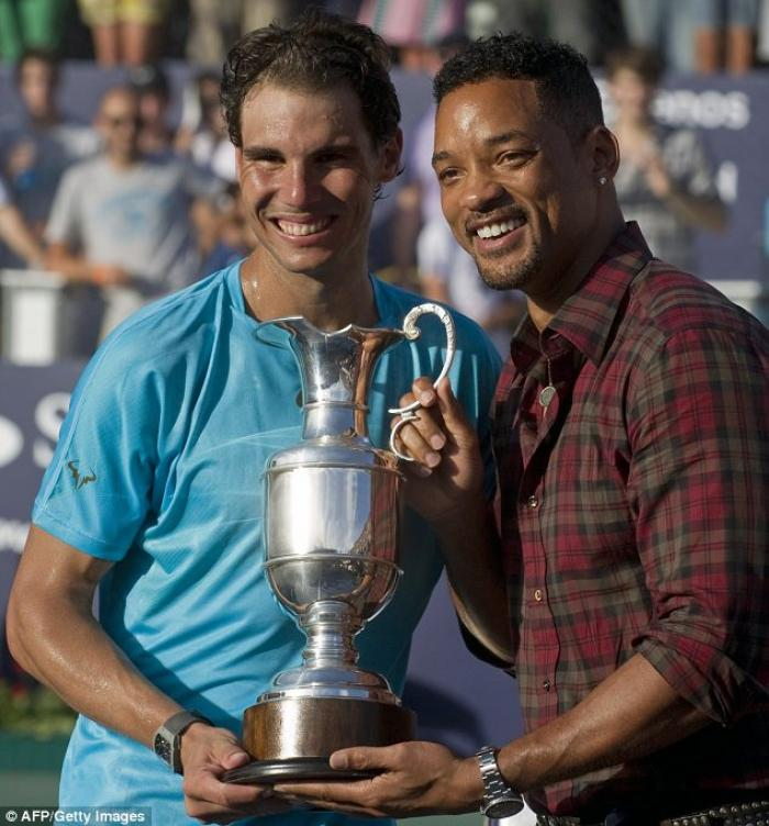Rafael Nadal si rilassa a golf in Sardegna assieme a Will Smith