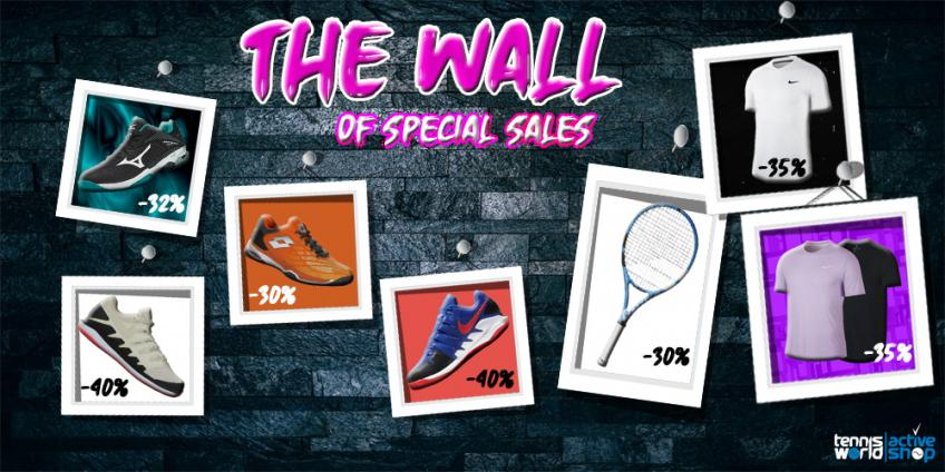 The Wall of Special Sales - Super sconti firmati Nike, Babolat, Mizuno e Lotto