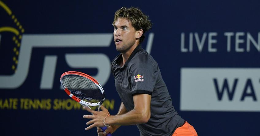 "Ultimate Tennis Showdown - Thiem vince il ""big match"" con Tsitsipas. Ok Berrettini"