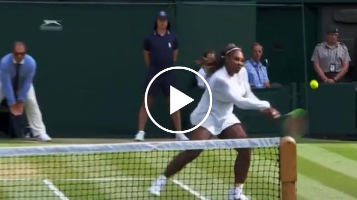 L'essenza di Serena Williams: pallonetto e passante angolato vincente
