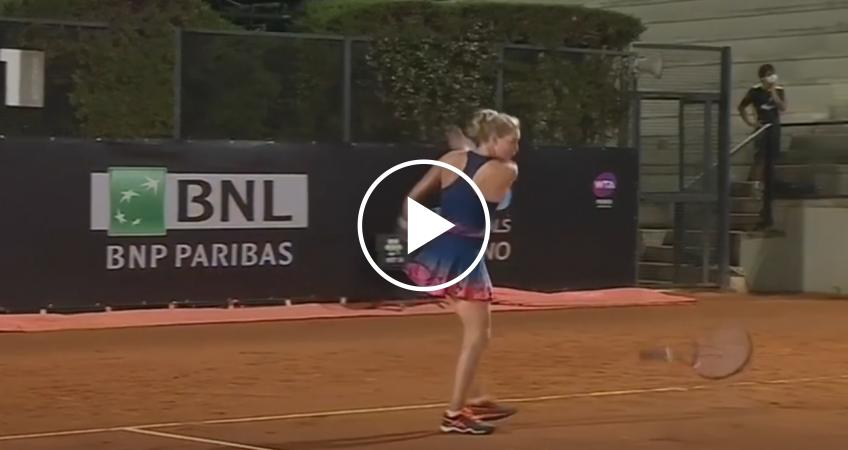 Zvonareva impazzisce dopo la decisione dell'arbitro sul punto del match point