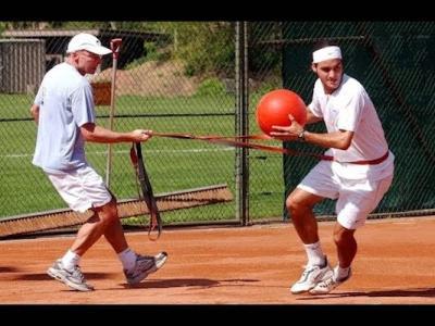 Gli allenamenti di Roger Federer