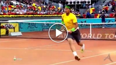 Madrid 2011: tweener incredibile di Rafael Nadal